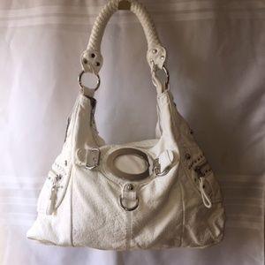 Black Rivet White Shoulder Bag NWT